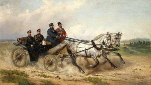 Царь Александр III в открытом ландо Николай Егорович Сверчков