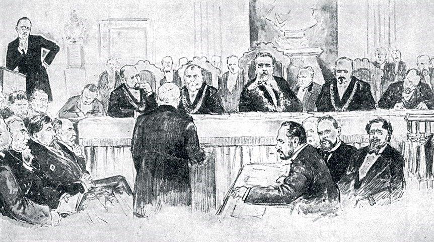 Владимир Кадулин. Общая картина заседания суда (Дело Бейлиса)