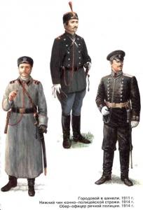 Форма полиции (1911-1914). Форма обмундирования полиции Российской Империи