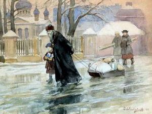 На новый приход, 1911. Художник Иван Владимиров