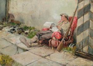 На посту, 1918. Владимиров Иван Алексеевич