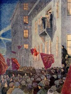 Моравов. Ленин на митинге в 1917 году.