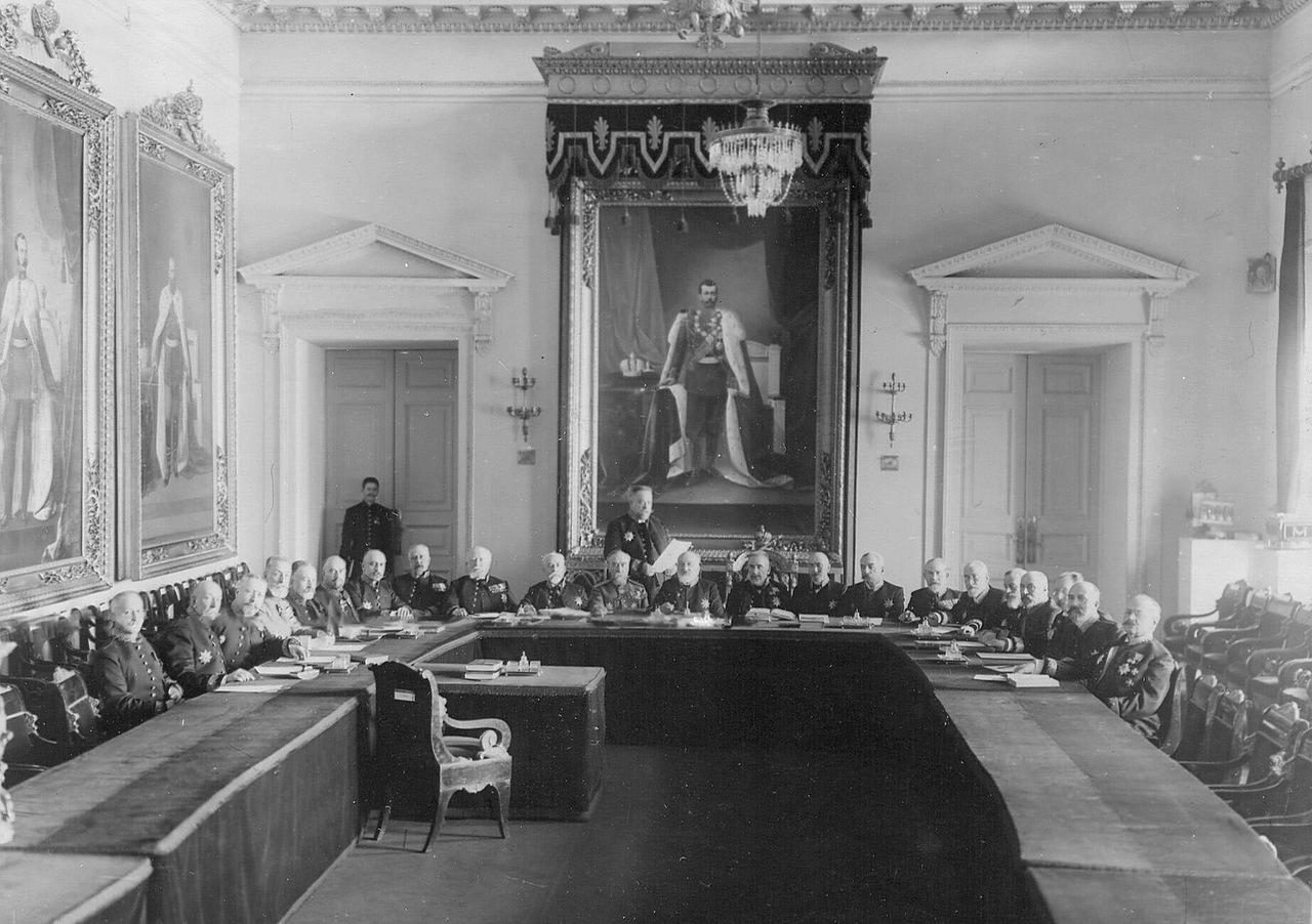 Заседание Сената. 1916