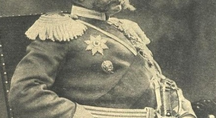 Генерал-от-кавалерии Павел Карлович фон-Ренненкампф неизвестен - Газета «Новое Время» за август 1914 года. (Википедия)