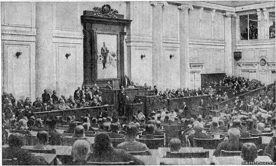 Продовольственный вопрос в Гос. Думе (1916 г.). Материал из журнала «Нива» за июль 1916 год.