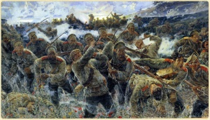 Пётр Карягин. Штыковая атака 1904 год. 1910
