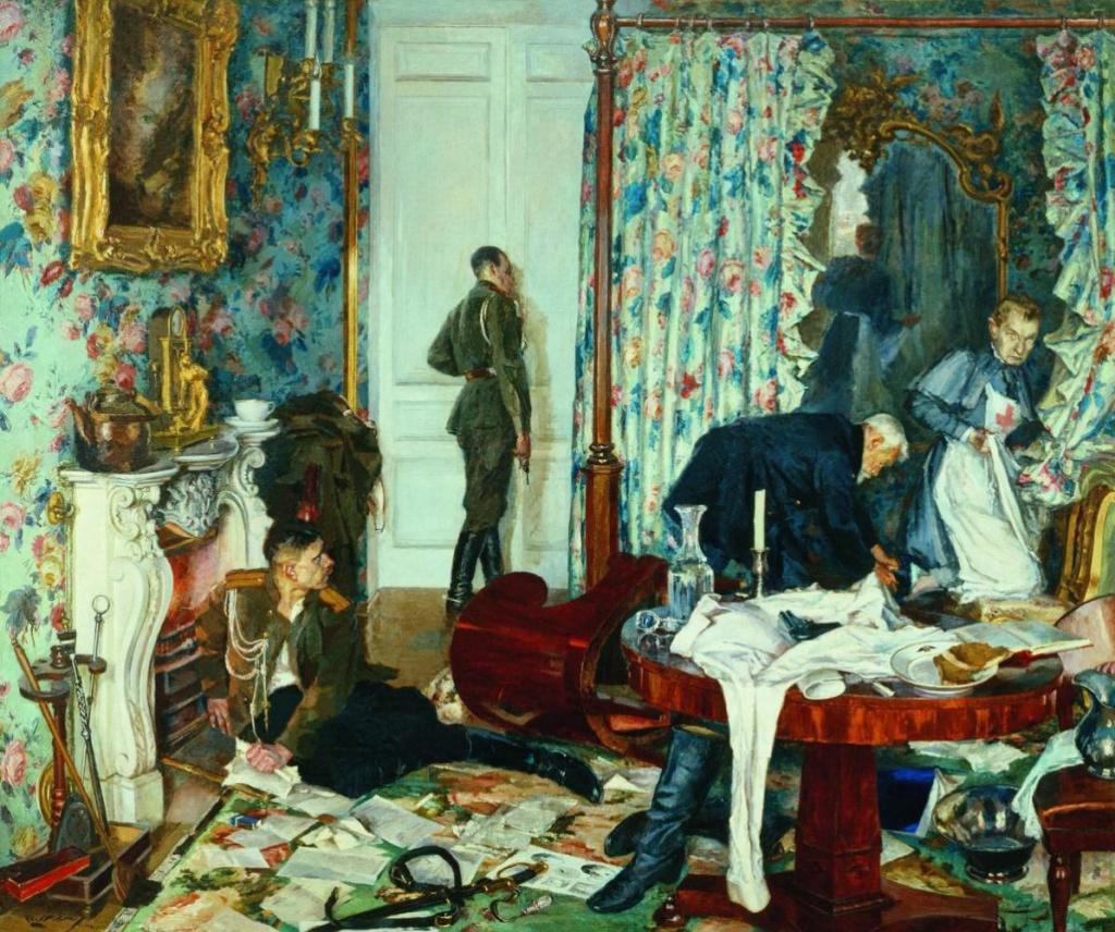 «Бегство Керенского из Гатчины.». Григорий Михайлович Шегаль (1889 — 1956). Государственная Третьяковская галерея