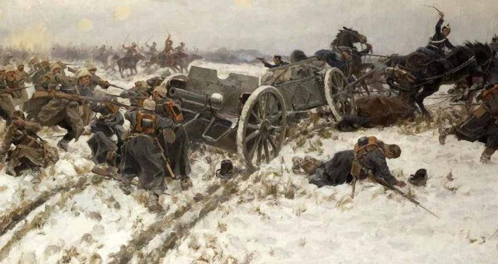 Военная стычка. И.А. Владимиров. 1915 г.