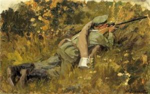 Солдат на позиции. И.А. Владимиров