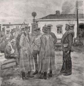Пленные германские солдаты и офицеры . И.А. Владимиров