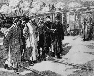 Ф. Э. Дзержинский - Хлеб голодающим. (серия рисунков художника В. Коновалова, 1977 год).