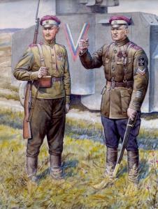 Валерий Куликов. Офицер 2-го Конного генерала Дроздовского полка и рядовой 2-го Офицерского стрелкового генерала Дроздовского полка.