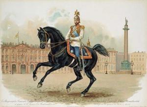 Николай II в форме лейб-гвардии Конного его величества полка.