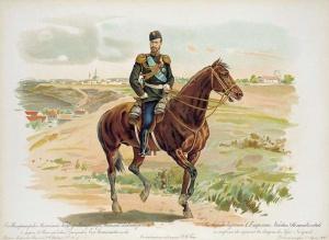 Николай II в форме 44-го Нижегородского Драгунского его величества полка.