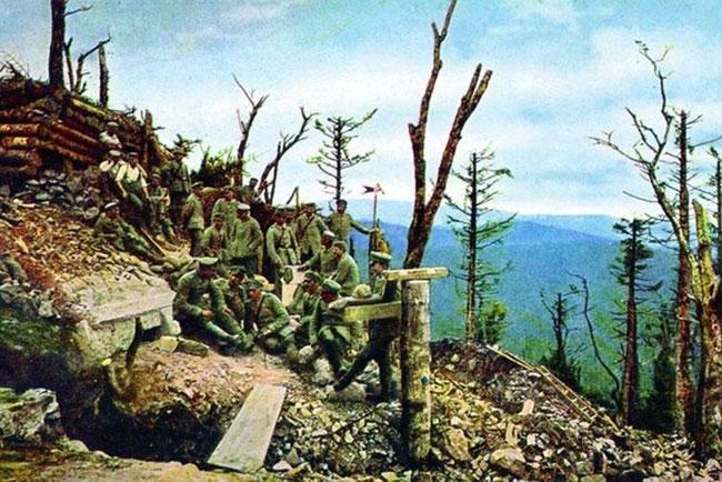 Русские войска в Карпатах 1914 год