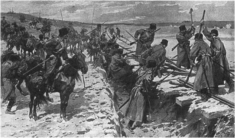 Диверсия на железной дороге. Казаки в Русско-японской войне 1904-1905 г.г.
