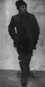 Н. А. Касаткин. Рабочий-боевик. X., м. 46X32. 1905. ЦМР СССР