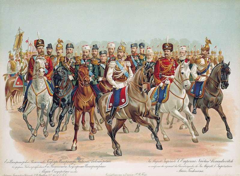 Николай II в форме Кавалергардского её величества государыни императрицы Марии Фёдоровны полка.