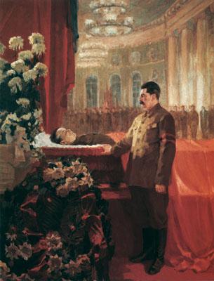 РУТКОВСКИЙ Николай Христофорович (1892-1968) «И.В. Сталин у гроба С.М. Кирова». 1934 г. Холст, масло.