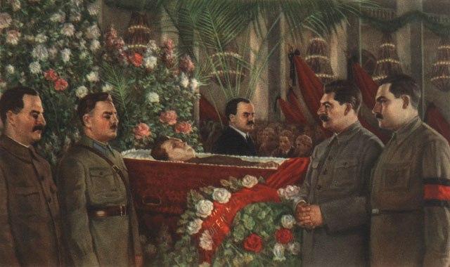 МАРКОВ Л. «Почётный караул у гроба Кирова». 1934 г.