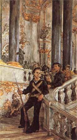 А. Осмеркин. Красная Гвардия в Зимнем дворце. 1927