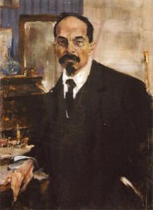Портрет Анатолия Васильевича Луначарского. 1920. Фешин Н.И.