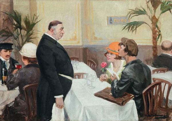Худ. Иван Владимиров. Гранд-отель «Европа», 1923