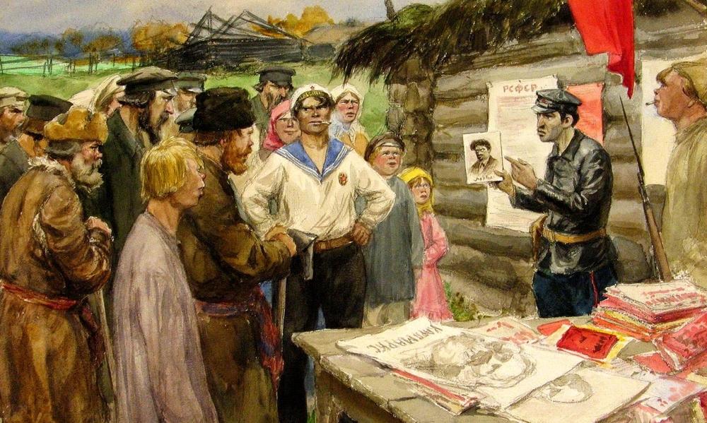 Агитатор. Иван Владимиров. 1920.