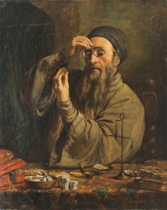 """Огюст Шарпентье. """"Еврей-ростовщик"""". 1842 г."""