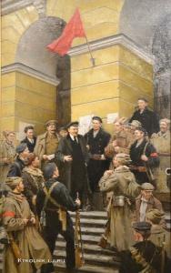 Осенев Николай Иванович (1909-1983) «Октябрь в Смольном». 1949