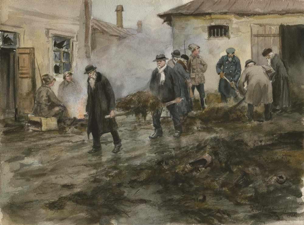 Иван Владимиров. Бывшие царские чиновники на принудительных работах. 1920