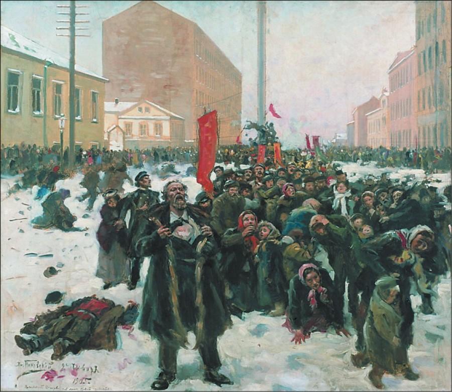 В.Е. Маковский (1846-1920). 9 января 1905 г. на Васильевском острове