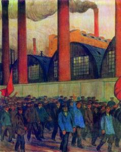 Манифестация. Б.М. Кустодиев (1878-1927)