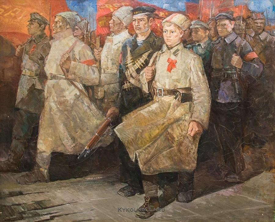 Молотков Михаил Григорьевич (Россия, 1931) «Солдаты революции» 1982
