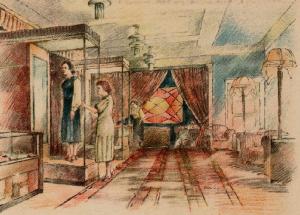 Ателье мод в новом городе (Кривой Рог). Рисунок художника Б. Ф. Рыбченкова.