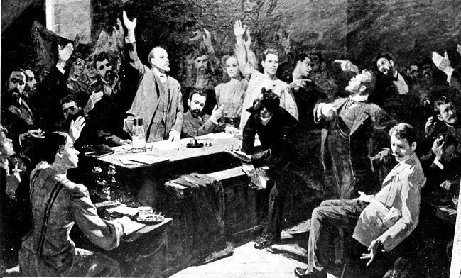 """За ленинскую """"Искру"""" с картины Ф. Решетникова."""
