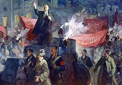 Приезд В.И.Ленина в Петроград (Государственный музей Великой октябрьской революции) Автор: Любимова В.А. 1957 г.
