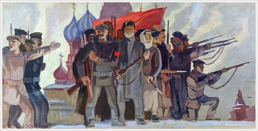 Дятлов Борис Григорьевич (Россия, 1924-1990) «Красная армия на Красной площади» 1960-е