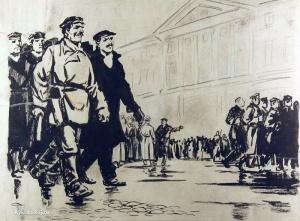 Коновалов Виктор Яковлевич (Россия, 1909-1995) «Рабочие революции» 1940-е