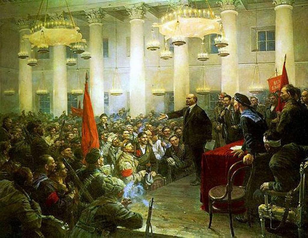 В.А. Серов.»Выступление В.И. Ленина на II Всероссийском съезде Советов»