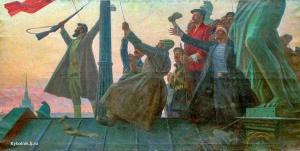 Лысенко Андрей Гаврилович (Россия, 1916-2000) «Знамя революции. Петроград»