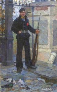 Меркурьев Алексей Ефимович (Россия, 1911-1976) «Октябрь» 1961