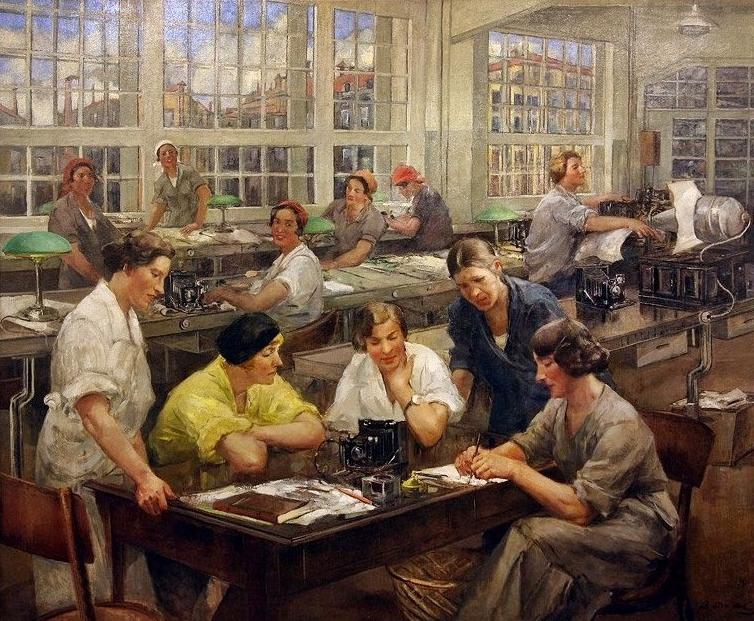 Тихов Виталий Гаврилович (1876 - 1939) «Стахановки завода им. ОГПУ»