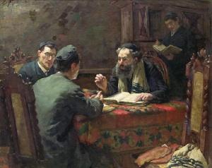"Эдуард Франкфорт. ""Богословский спор"". 1888 г."