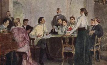 А.М. Горький читает пьесу 'На дне' артистам Художественного театра, 1902