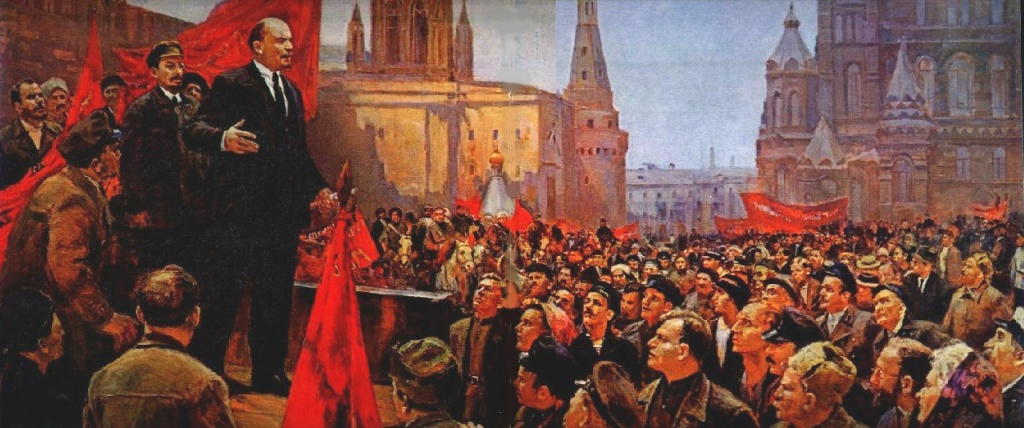 Выступление В.И.Ленина на Красной площади в 1919 году. - Налбандян Д.А.