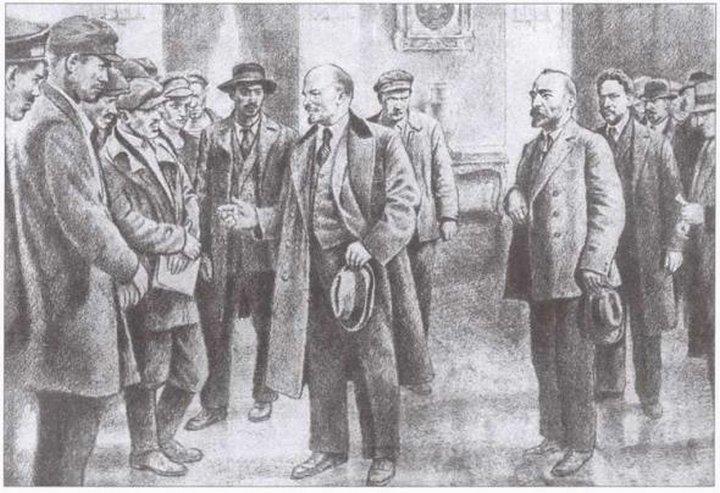 Е.Машкевич «Приезд Ленина в Петроград»