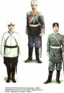 Форма полиции (1884-1908). Форма обмундирования полиции Российской Империи