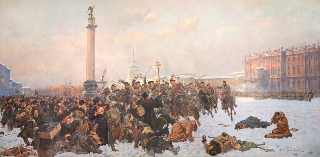 Войцех Коссак (1857-1942), картина «Krwawa niedziela. 1905» (в русском названии «Кровавое воскресенье в Петербурге 22 января 1905 года»)