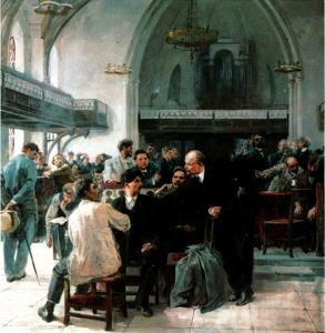 Л. Серебрянный. На V Лондонском съезде РСДРП в 1907 году. 1947